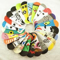 袜子批发厂家直销夏季男女卡通表情袜个性人头地摊袜批发wazipifa 价格:0.85
