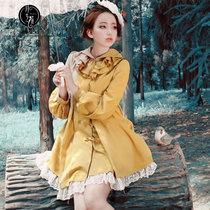 月芝猫原创女装2013秋季新款开衫单排扣外套公主宽松风衣大衣337 价格:239.00