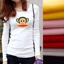 大嘴猴长袖T恤 女2013秋装新款韩版经典时尚莱卡棉修身休闲打底潮 价格:65.00