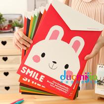 多米佳 韩国文具 卡通可爱萌动物文件袋 办公学习A4文件袋档案袋 价格:3.20