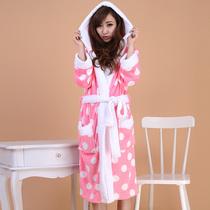 2013秋冬新款 潮加厚珊瑚绒睡袍 睡衣浴袍女士加厚长袖保暖 SY01 价格:59.00