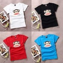 经典猴头 新款大嘴猴t恤 女 短袖 纯棉纯色大嘴猴短袖显瘦夏装 价格:49.00