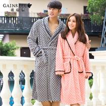 2013新款歌瑞尔星月相随加厚睡袍时尚波点珊瑚绒情侣睡衣家居服 价格:177.91