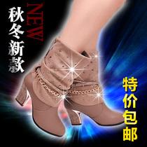 包邮短靴春秋冬季中筒靴高跟马丁靴清仓雪地靴英伦高筒靴女靴子 价格:138.00