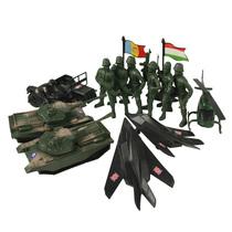 军事基地 兵人套装 军事模型 坦克 飞机 摩托车 吉普车 15个 价格:14.00
