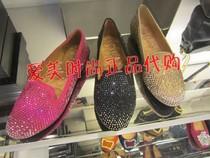 专柜正品代购思加图单鞋2013秋款水钻平跟平底鞋欧美女鞋 P6001D 价格:258.00