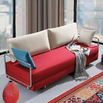 小户型 宜家 布艺钢架沙发床 三人2米 多功能折叠沙发床 三包到家 价格:1280.00