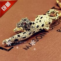 韩国正品 水钻招财金钱捷豹钥匙链 创意礼品 男士汽车钥匙扣 包邮 价格:59.80