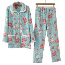 特价双面珊瑚绒睡衣 女 清仓 家居服 套装秋冬 超萌可爱 兔子包邮 价格:49.89