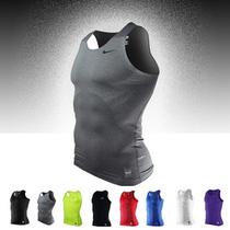 nike pro弹力紧身衣NBA篮球运动背心 耐克健身无袖训练紧身短袖T 价格:39.00