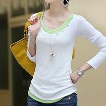 李良秋季新款女装韩版修身低圆领长袖两件套T��打底衫1010 价格:46.80