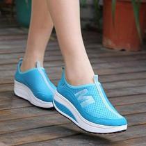 夏季包邮摇摇鞋女式透气休闲鞋松糕运动减肥鞋网面女单鞋 价格:49.92