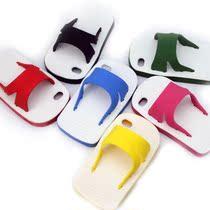 批发苹果iphone4s手机壳 蓝白拖鞋 苹果5硅胶套 苹果4代保护壳潮 价格:10.00