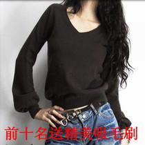 春装正品女式新款V领羊绒衫针织打底羊毛衫 线衣套头清仓特价阿卡 价格:69.00
