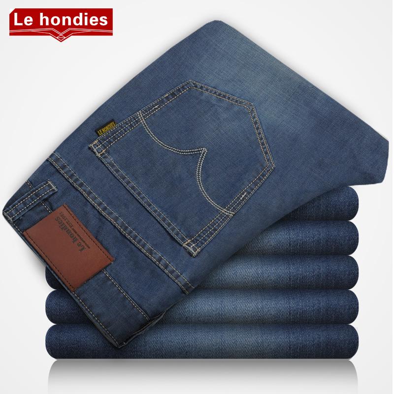 Le hondies 初秋薄款男士牛仔裤男裤子直筒修身牛仔长裤 大码男装 价格:79.00