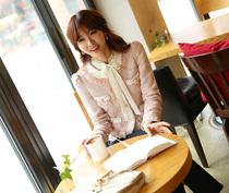2013秋季新款小香风金丝三彩短外套修身百搭名媛气质OL耸肩小外套 价格:236.60