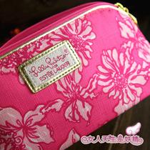 漂亮大容量 新款 EL雅诗兰黛帆布烂漫樱花桃粉化妆包 13年限量 价格:12.00
