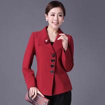 2013秋装新款妈妈装外套中年女装秋装西服 中老年秋装长袖短外套 价格:189.00