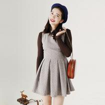 【独奏庄园】绿山墙的安妮 秋季新款复古百褶羊毛呢连衣裙背心裙 价格:159.00