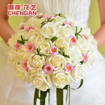 城岸 唯一的你白 韩式30朵 新娘 手捧花 仿真 包邮 送胸花腕花 价格:59.90