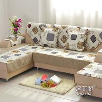 婷菲阁 合集 绗缝沙发垫 欧式坐垫防滑布艺沙发套 沙发巾24地包邮 价格:8.00