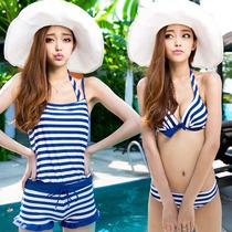 奢奇泳衣 女连体平角大胸小胸聚拢钢托保守泳装 大码游泳衣 价格:88.00