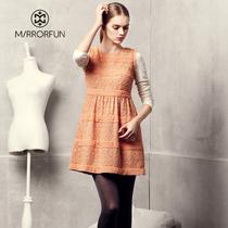 品牌特卖6折MIRROR FUN 2013秋装新款背心裙 蕾丝拼接无袖连衣裙 价格:251.40