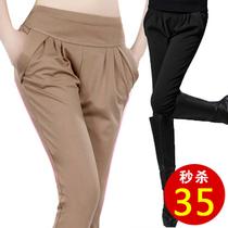 哈伦裤 2013秋装新款 韩版潮流大码显瘦女长裤 弹力休闲小脚裤 价格:35.00