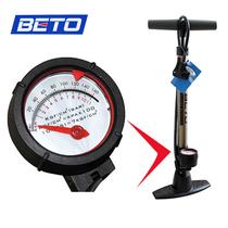包邮 台湾BETO 高压立式大气筒带压力表 自行车家用打气筒 美法嘴 价格:88.00