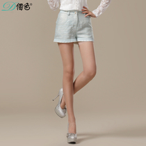 个色 2013秋装新款 时尚气质韩版修身热裤蕾丝花边百搭短裤女 价格:128.00