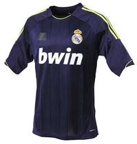 12-13赛季皇家马德里球衣皇马客场短袖足球服队服蓝色C罗纳尔多 价格:49.00