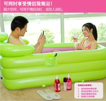 包邮正品水美颜折叠浴缸成人浴盆情侣双人充气浴缸沐浴桶木桶浴缸 价格:268.00