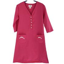 棉风尚正品 矩阵夏季女士居家休闲纯棉V领中袖浴裙  包邮 价格:550.00