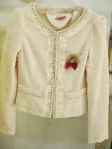 千百惠2013年秋装新款专柜正品时尚花边钉珠礼服小外套32VA-38715 价格:233.40