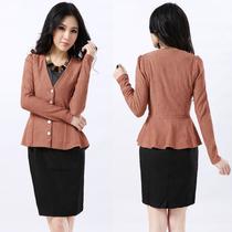 2013秋装新款女装韩国SZ时尚短款外套修身单排扣小外套Y1400 价格:62.98
