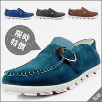 2013秋款韩版潮鞋男鞋板鞋流行皮鞋单英伦懒人鞋反绒男士休闲鞋子 价格:138.00