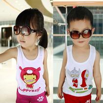 买五送一 包邮 品牌儿童男女童夏装新款纯棉工字背心宝宝童装 价格:9.91