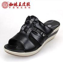 特价拖鞋 夏季新款蜘蛛王女拖鞋正品中跟女拖鞋 凉拖鞋072K610051 价格:189.00