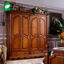 鹏叶家具 卧室衣柜 四门衣柜 美式家具 实木衣橱大衣柜 整体衣柜 价格:3389.00