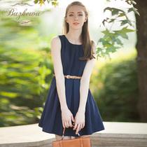 布着屋 2013秋装 新款女装修身韩版圆领无袖雪纺连衣裙短裙 价格:175.00