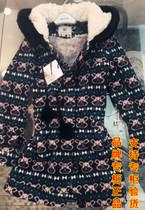 品牌专柜正品中长款卡通连帽加厚女士棉服 韩版修身女式棉衣冬装 价格:159.00