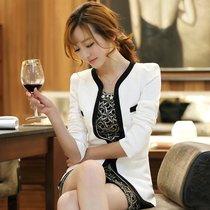 莫卡娜2013秋冬新款女装韩版式气质修身高档撞色外套长袖小西装女 价格:148.00