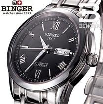 正品瑞士宾格BINGER手表男士全自动机械表 镂空男表 商务防水腕表 价格:398.00