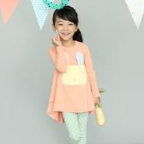 秋款童装儿童套装2013秋季新款女童兔子长袖连衣裙套装2件套 价格:128.00