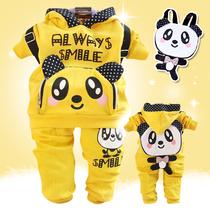 2013春秋装新款可爱熊猫 童装男童女童全棉儿童衣服运动休闲套装 价格:49.00