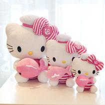 2013新款!hello kitty凯蒂猫咪海军服抱小鲸鱼毛绒玩具公仔 价格:35.00