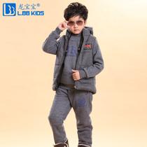 龙宝宝童装男童秋冬装2013新款套装 中大儿童韩版冬季卫衣三件套 价格:167.00