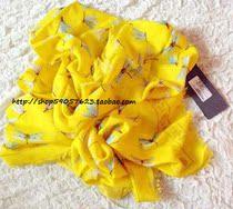 欧洲AlexanderMcqueen MCQ 13限量 黄色骷髅+蜻蜓 羊绒丝巾 多色 价格:3330.00
