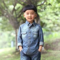 棉叔叔童装秋款童装 儿童牛仔衣 长袖纯棉衬衣男童休闲牛仔 衬衫 价格:108.00