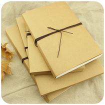 云木良品◎热卖经典复古封面空白牛皮纸日记涂鸦速写素描笔记本子 价格:21.00